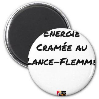 Aimant ÉNERGIE CRAMÉE AU LANCE-FLEMME - Jeux de mots