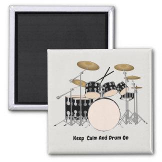 Aimant Ensemble illustré de tambour