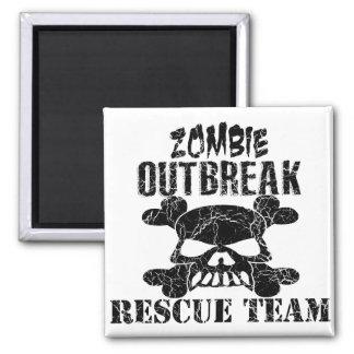 Aimant Équipe de secours de manifestation de zombi