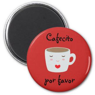 "Aimant espagnol de ""Cafecito"" avec la tasse de"