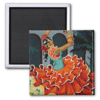 Aimant espagnol de danseur de flamenco