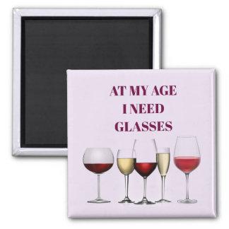 Aimant Expression en verre de vin
