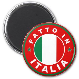 Aimant fait dans le fatto Italie d'étiquette de drapeau