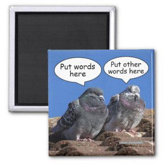 Aimant Faites à des pigeons l'aimant de réfrigérateur