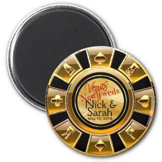 Aimant Faveur de puce de casino de sable de noir d'or de