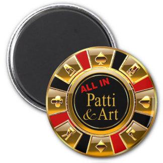 Aimant Faveur rouge de puce de casino d'or noir de Las