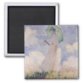 Aimant Femme de Claude Monet | avec le parasol tourné