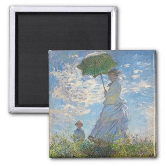 Aimant Femme de Claude Monet | avec un parasol