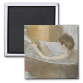 Aimant Femme d'Edgar Degas | à son Bath, épongeant sa