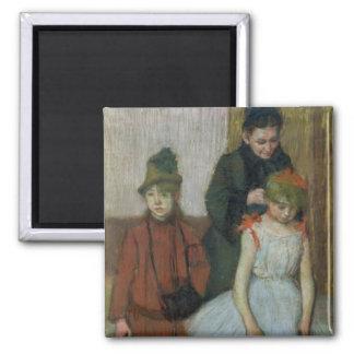 Aimant Femme d'Edgar Degas | avec deux petites filles