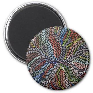 Aimant Feuille multicolore de médecine de buisson