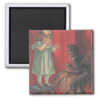 Aimant Fille de kidnapping de Krampus