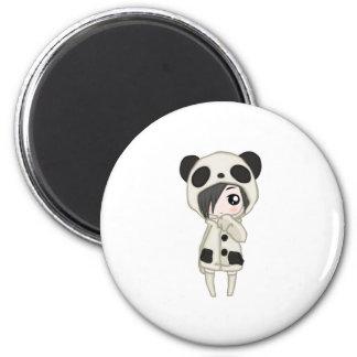 Aimant Fille de panda de Kawaii