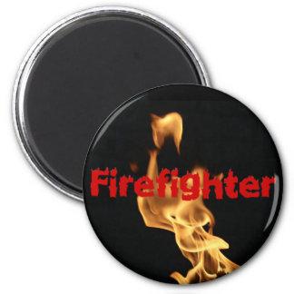 Aimant Flammes flamboyantes du feu de sapeur-pompier