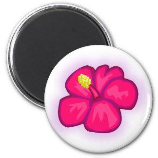 Aimant Fleur rose d'Hawaï