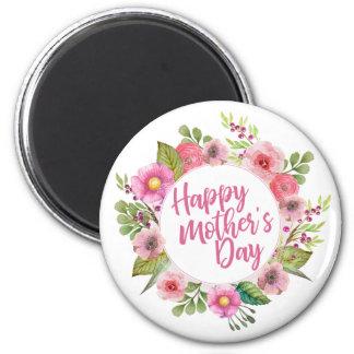 Aimant floral heureux élégant du jour de mère |