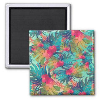 Aimant floral tropical de l'aquarelle |