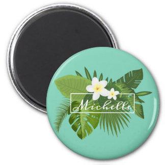 Aimant floral tropical personnalisé du cadre |