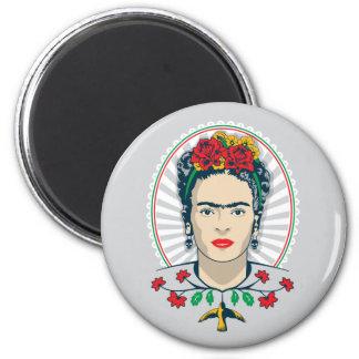 Aimant Floral vintage de Frida Kahlo |