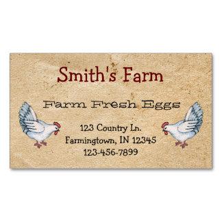 Aimant frais de carte de visite d'oeufs de ferme