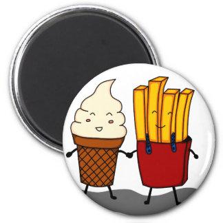 Aimant Fritures et crème glacée
