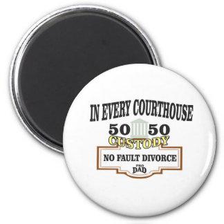 Aimant garde 50 50 dans chaque tribunal