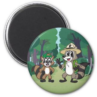 Aimant Garde forestière Rick et Ricky de Rick | de garde