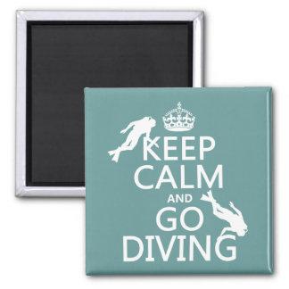 Aimant Gardez le calme et allez (scaphandre) plonger