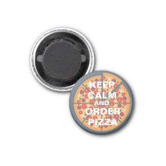 Aimant Gardez le calme et commandez la pizza