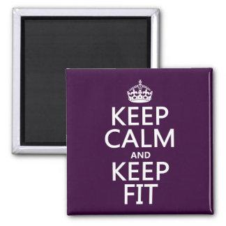 Aimant Gardez le calme et gardez l'ajustement (les