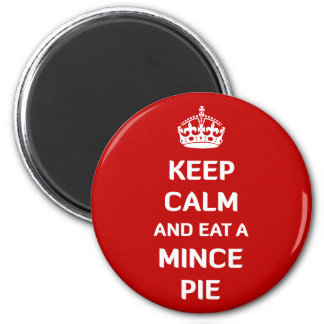 Aimant Gardez le calme et mangez une mince pie