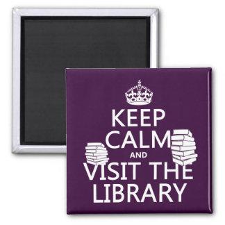 Aimant Gardez le calme et visitez la bibliothèque - dans