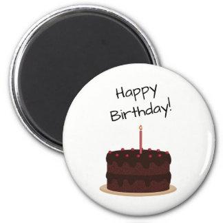 Aimant Gâteau de chocolat de joyeux anniversaire