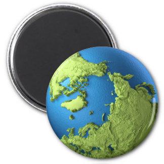 Aimant Globe 3d d'isolement sur l'arrière - plan blanc.