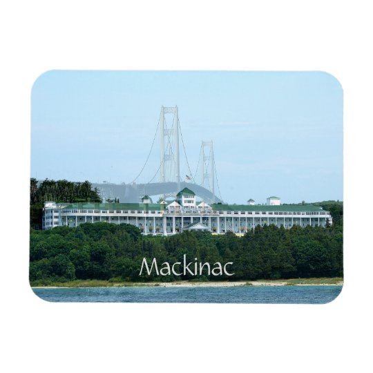 Aimant grand d'hôtel de pont de Mackinac Magnets En Vinyle