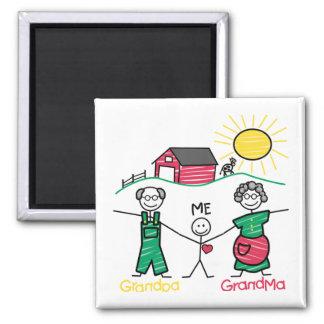 Aimant Grand-maman et moi de grand-papa