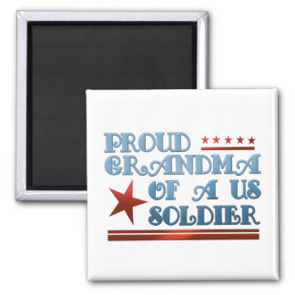 Aimant Grand-maman fière d'un soldat des USA