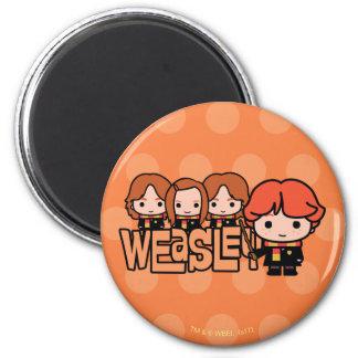 Aimant Graphique de Weasley Siblilings de bande dessinée