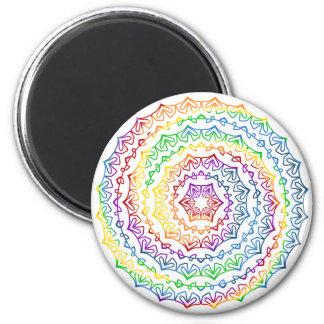 Aimant Graphique en spirale coloré de mandala