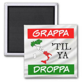 Aimant Grappa jusqu'à la carte de drapeau de Ya Droppa