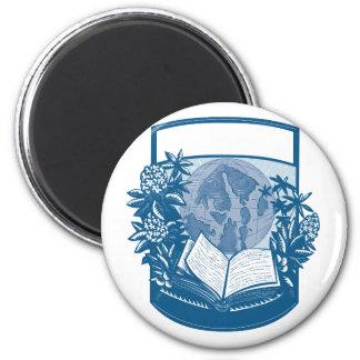 Aimant Gravure sur bois en livre d'île d'orques de