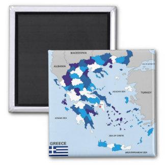 Aimant Grec politique de drapeau de carte de pays de la