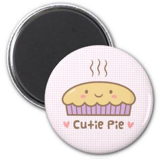 Aimant Griffonnage mignon de tarte de Cutie pour des