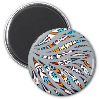 Aimant Gris génial noir d'encre d'art de motif