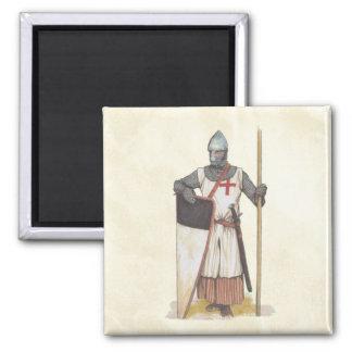 Aimant Guerrier médiéval de Templar de chevaliers