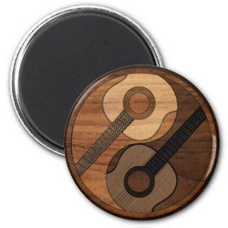 Aimant Guitare acoustique Yin Yang de sembler du bois