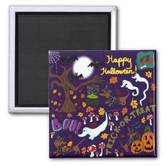 Aimant Halloween du teckel de diva