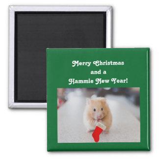Aimant Hamster de Noël