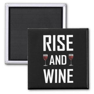 Aimant Hausse et verres de vin