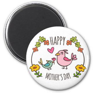 Aimant heureux adorable du jour de mère |